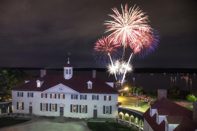 Evening fireworks at Mount Vernon on June 30 and July 1. Credit: Buddy Secor/Ninja Pix