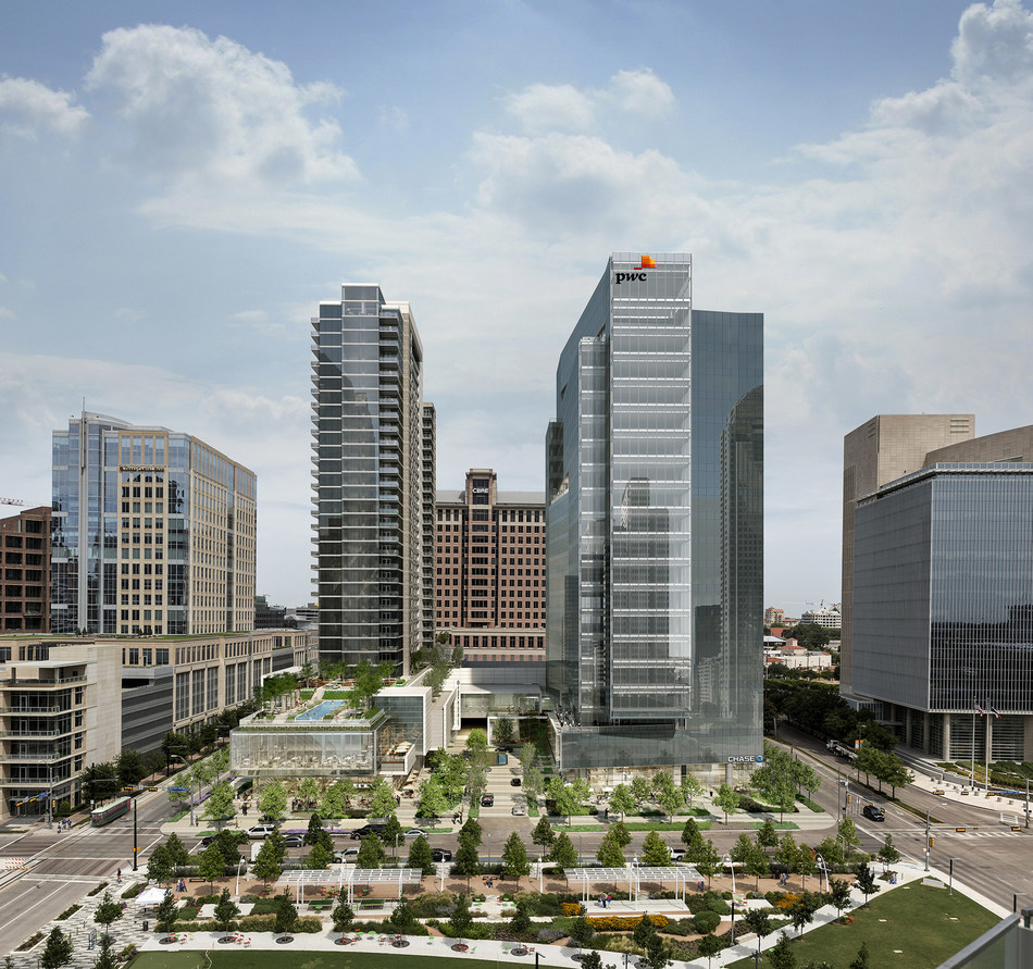 Park District in Dallas, Texas, developed by Trammell Crow Company