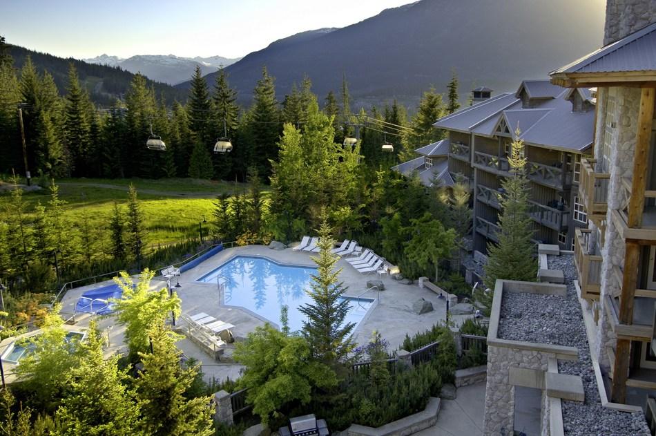 Summer mountain scene at ResortQuest Whistler Resort in Whistler, B.C., Canada