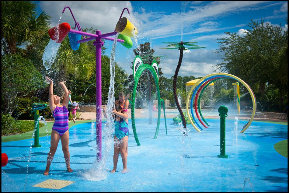 Splashpad at Bahama Bay Resort in Orlando, Florida