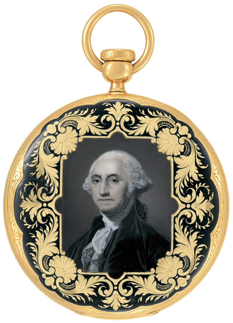 Patek Philippe Pocket Watch with enamel portrait of George Washington