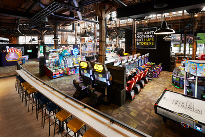 """The Rec Room is the social playground for anyone, and everyone. It features a huge attractions area called 'The Yard' where Torontonians can play over 90 amusement games. Those up to the challenge can also try a next generation race car simulator or compete against friends at favourites like shuffleboard, billiards, air hockey and ping pong."" (CNW Group/Cineplex)"