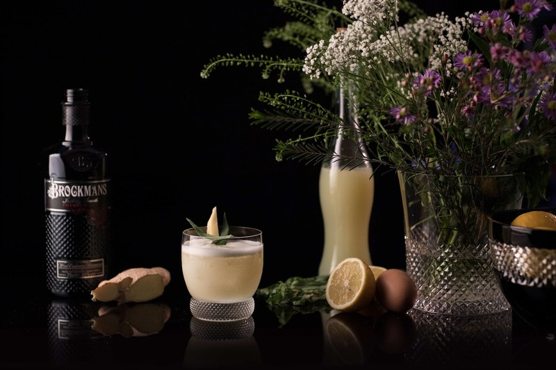 Brockmans Herbal Sour Cocktail