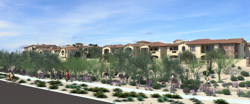 San Portales will open this fall in the desert foothills of north Scottsdale. The new community features large floor plans, direct-access two-car garages and elevators.