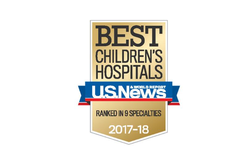 Cohen Children's Medical Center badge for the 2017 US News Best Children's Hospitals list.