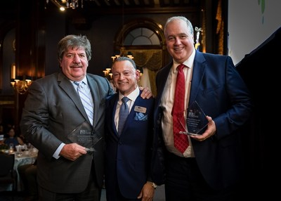 (L to R) Dan Ricciardi, MD, FACR, Dean of Clinical Studies, St. George's University; José R. Sánchez, LMSW, LCSW, President and CEO, Norwegian American Hospital; G. Richard Olds, MD, MACP, President and CEO, St. George's University