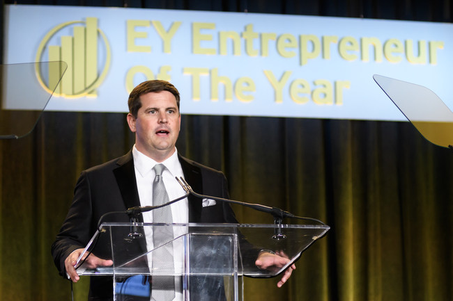 ReliaQuest CEO Brian Murphy receives the EY Entrepreneur of the Year Award for Florida in IT Security