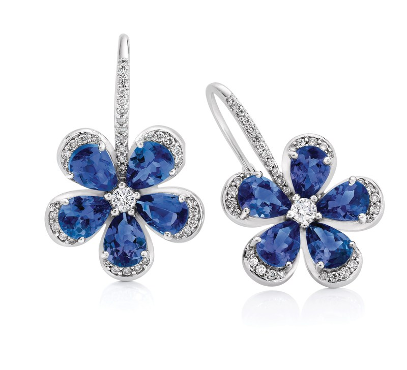 Safi Kilima Tanzanite Forget Me Not Earrings