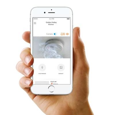 The Honeywell Lyric app screen for the Lyric C1 Wi-Fi Security Camera
