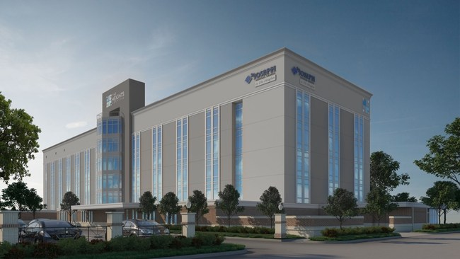 The Heights Hospital rendering of completed project.
