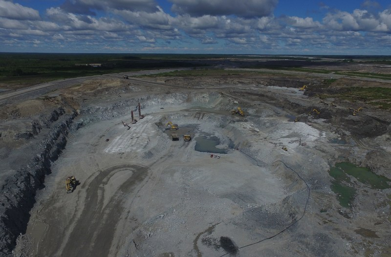 Rainy River open pit. (CNW Group/New Gold Inc.)