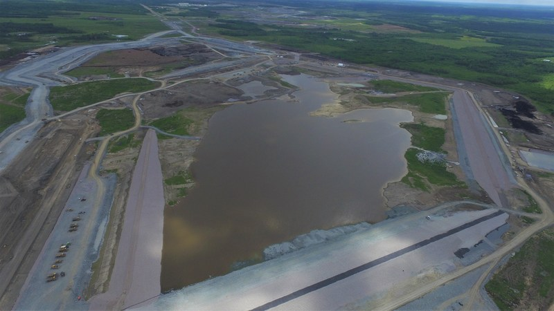 Rainy River water management pond. (CNW Group/New Gold Inc.)