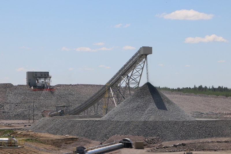 Rainy River primary crusher and conveyor system successfully commissioned. (CNW Group/New Gold Inc.)