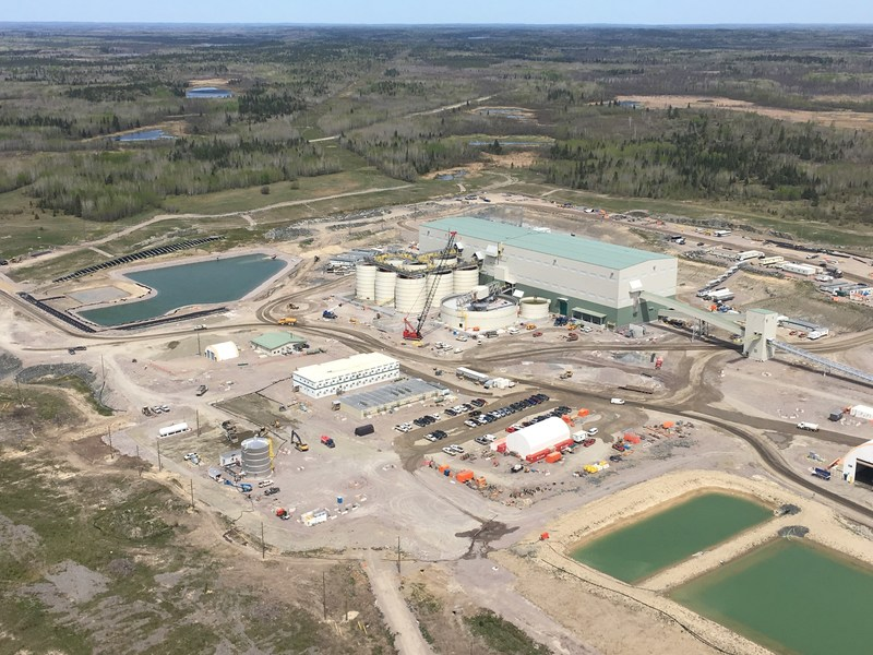 Rainy River aerial view of process plant. (CNW Group/New Gold Inc.)