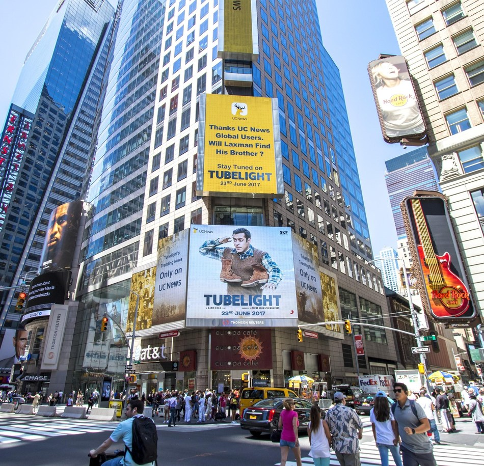 Tubelight being promoted at Times Square, New York by UC News