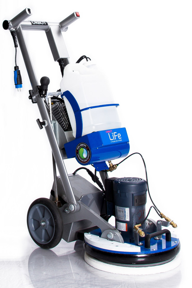 Delta-Q Technologies announces lithium battery charger supply for ORBOT's new LiFe floor care machine, which features a fast charge and a hybrid capability to allow both on-and off-board charging for their customers. (CNW Group/Delta-Q Technologies Corp.)
