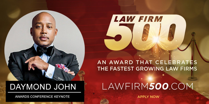 Apply now for the 2017 Law Firm 500 Award for fastest growing Law Firms in the U.S. Deadline is June 30, 2017. www.lawfirm500.com/apply-2017/
