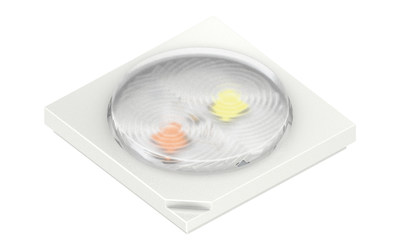 "The new Oslux S 2.1 from Osram Opto Semiconductors provides easier handling and improves brightness and color uniformity thanks to ""Dual-CCT"" LEDs. Picture: Osram"
