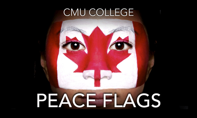 Young artists celebrating peace and diversity in honour of Canada 150! (CNW Group/CMU College)