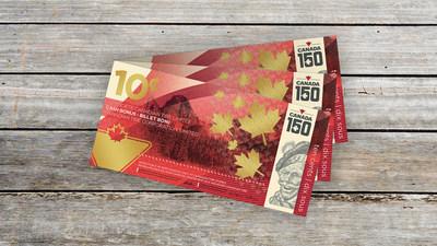 Le billet Canadian Tire de 10 ¢ à édition limitée créé pour célébrer le 150e anniversaire du Canada est offert dans les magasins à l'échelle nationale du 30 juin au 2 juillet (jusqu'à épuisement des stocks). (Groupe CNW/SOCIÉTÉ CANADIAN TIRE LIMITÉE)