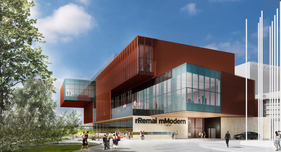 Remai Modern will open to the public October 21, 2017 in Saskatoon, Canada.