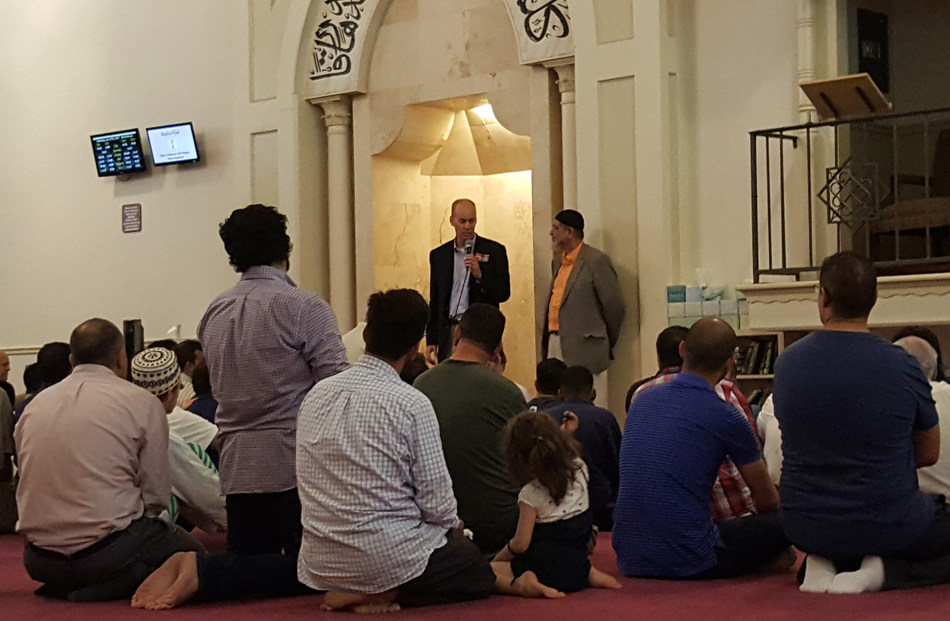 The former head of the Christian Coalition and Republican Senate candidate Dr. Randy Brinson speaks to the Birmingham Islamic Society which has since drawn major heat and political threats throughout the State of Alabama.