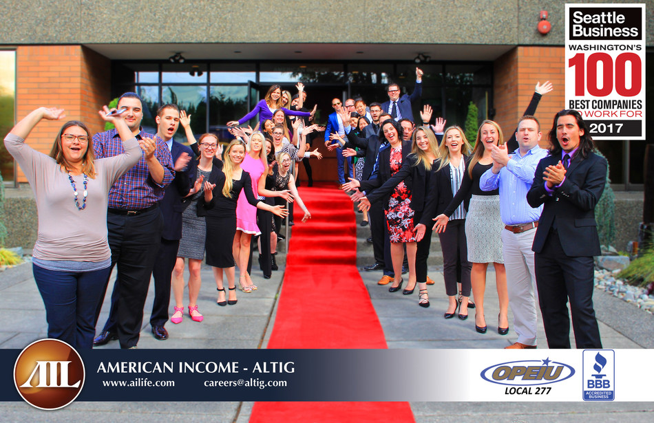American Income-Altig named among Seattle Business Magazine's Washington 100 Best Companies for a third consecutive year.