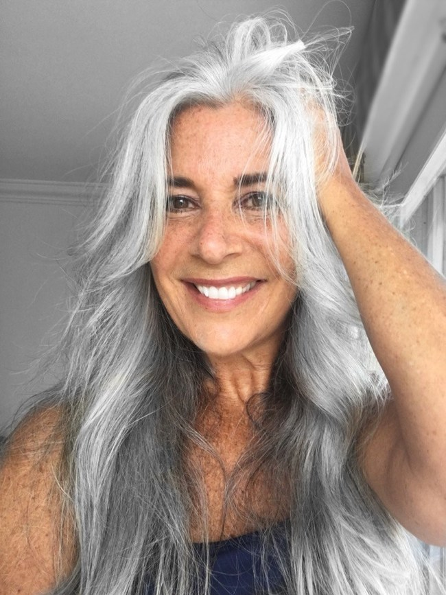 "Hillary Barnett Bitar, 55, of Miami, Florida, is the winner of NextTribe.com's ""Hooray for Gray Giveaway."""