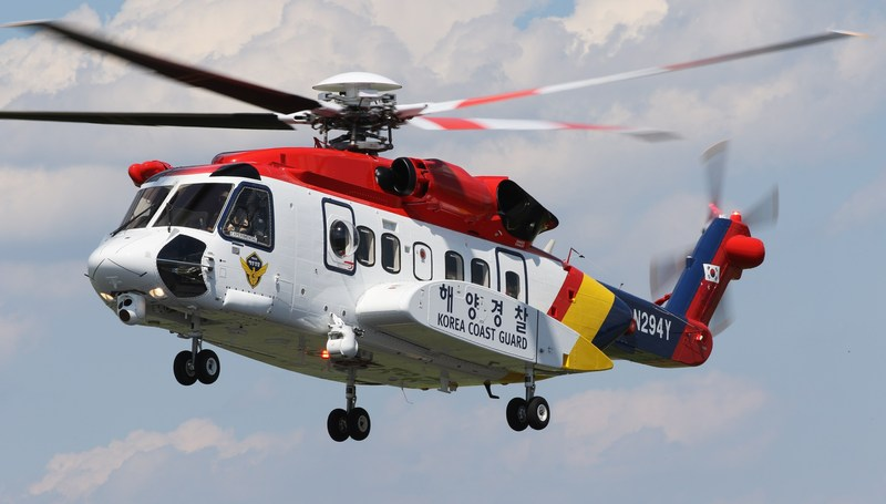 The South Korea Coast Guard has operated a single S-92 helicopter since March 2014 and accepted its second S-92 aircraft, pictured above, for search and rescue on June 27.
