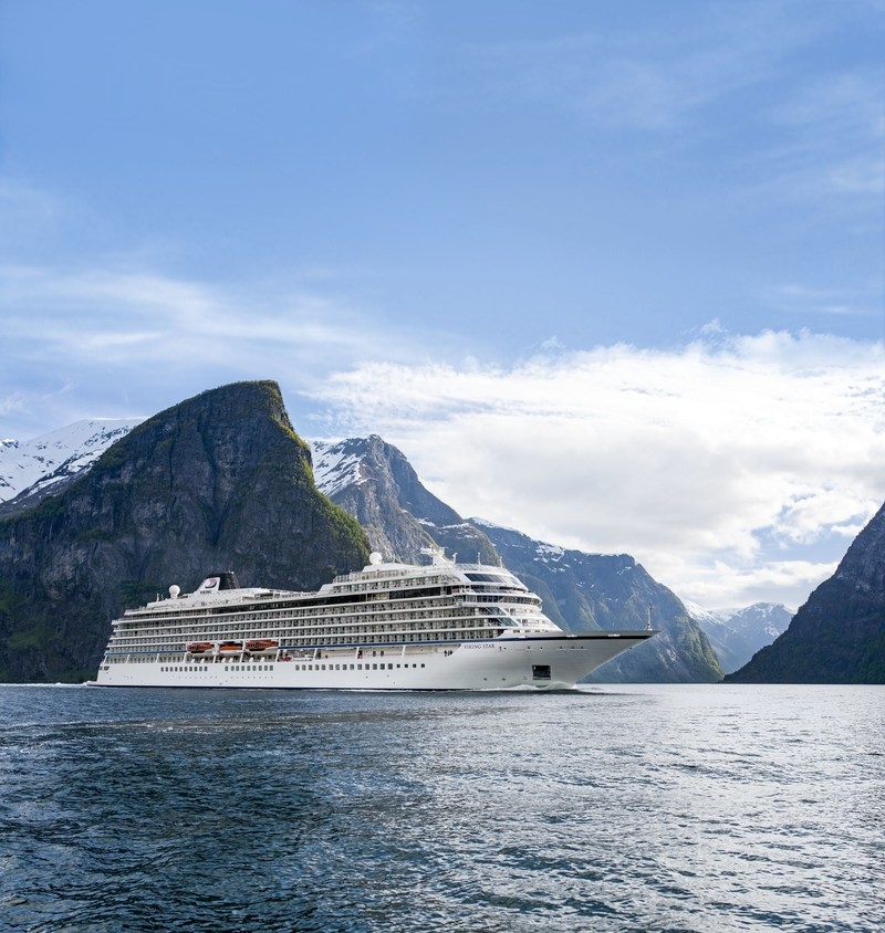 "Viking Cruises announces new ""In Search of the Northern Lights"" itinerary exploring the far north of Norway during a peak period for aurora borealis sightings. Beginning in January 2019, the new offering establishes Viking as the first U.S. cruise line to offer a rare full-length itinerary in the Arctic Circle during the winter season. Visit www.vikingruises.com for more information."