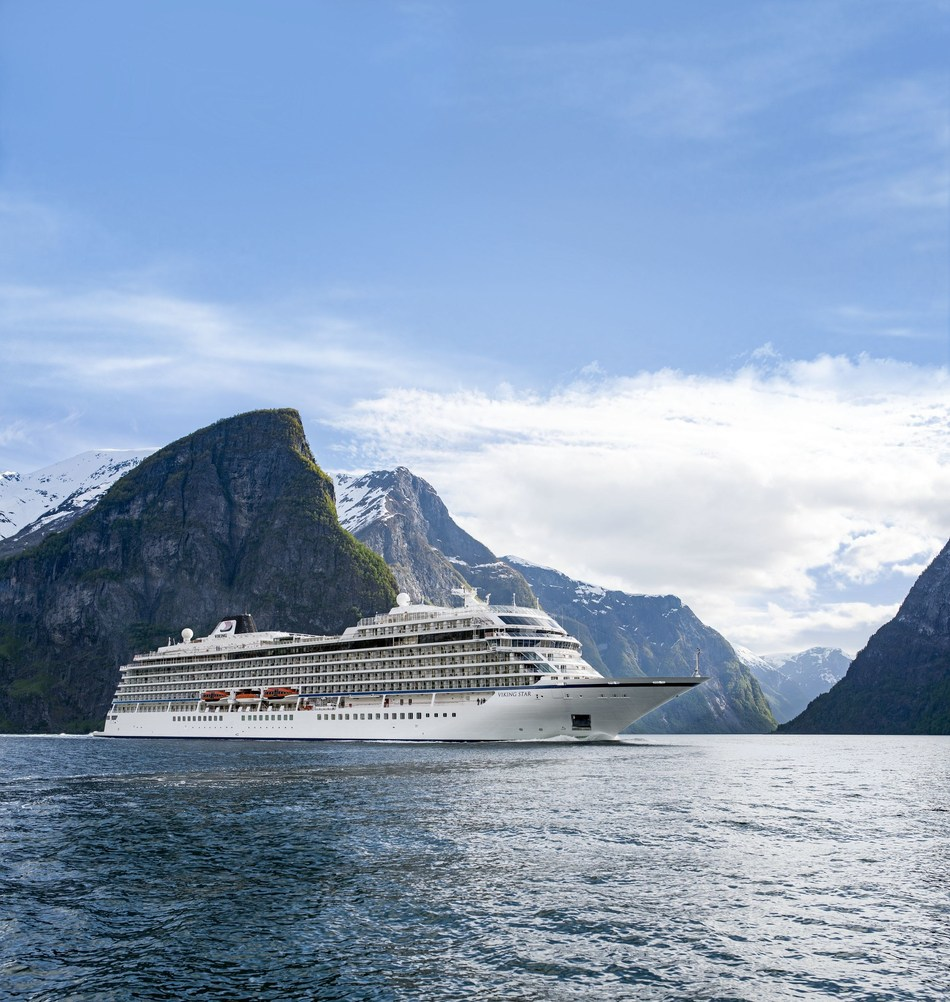 """Viking Cruises announces new """"In Search of the Northern Lights"""" itinerary exploring the far north of Norway during a peak period for aurora borealis sightings. Beginning in January 2019, the new offering establishes Viking as the first U.S. cruise line to offer a rare full-length itinerary in the Arctic Circle during the winter season. Visit www.vikingruises.com for more information."""