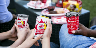 A special edition of RRRoll Up the Rim to Win® launches June 28, 2017 and is back for the second time in one year, bringing Double Double the fun with plenty of new and exciting prizes to be won. (CNW Group/Tim Hortons)