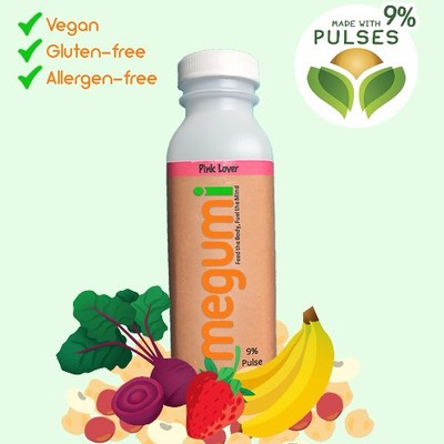 Megumi - 2017 National Mission: ImPULSEible winning entry. Megumi is made with fermented chickpeas, navy beans and red beans. One serving of Megumi provides you with 24% of your daily intake of dietary fibre and 11 g of protein. (CNW Group/Pulse Canada)