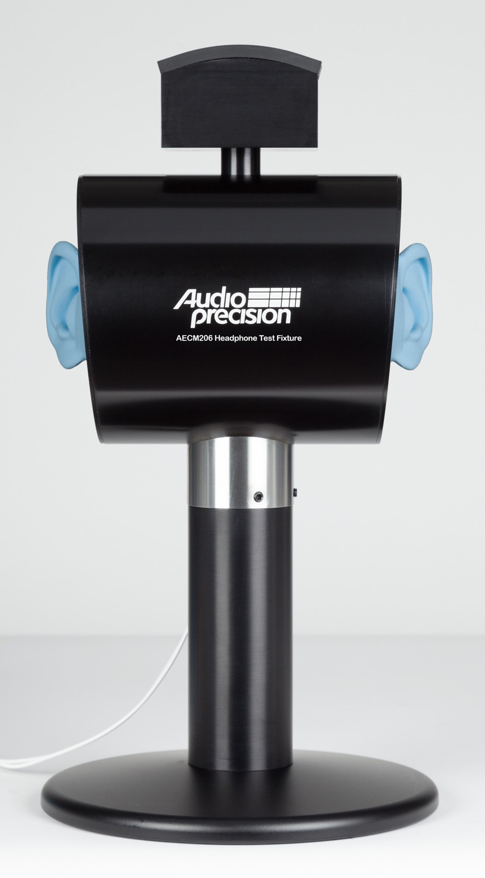 The Audio Precision AECM206 Headphone Test Fixture supports the testing of circum-aural, supra-aural and intra-concha headphones and earbuds in R&D and production test applications.