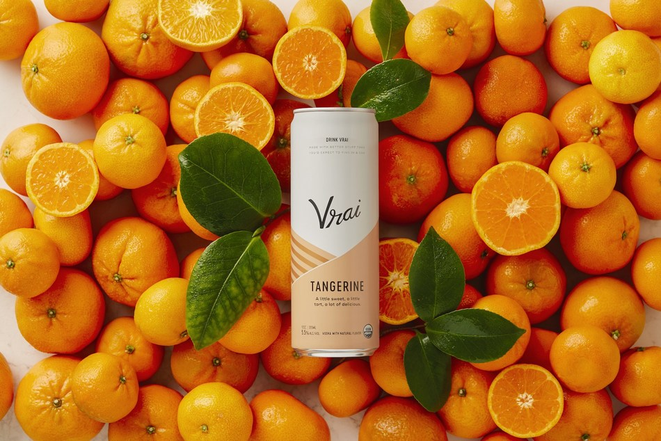 Vrai Tangerine, the latest specialty craft vodka drink offering from Vrai Drinks, is now available in Ardagh Sleek beverage cans.