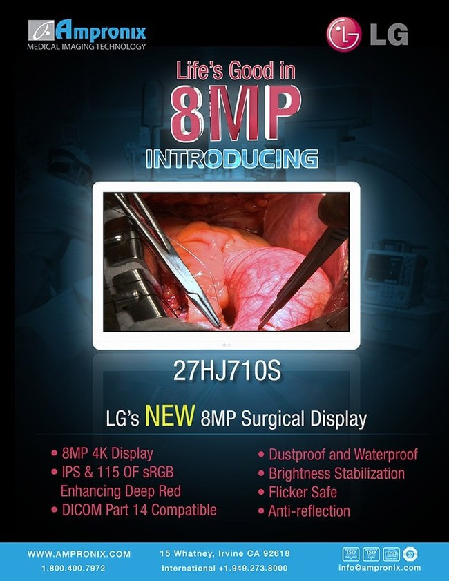 LG's latest 8mp 4k surgical display monitor