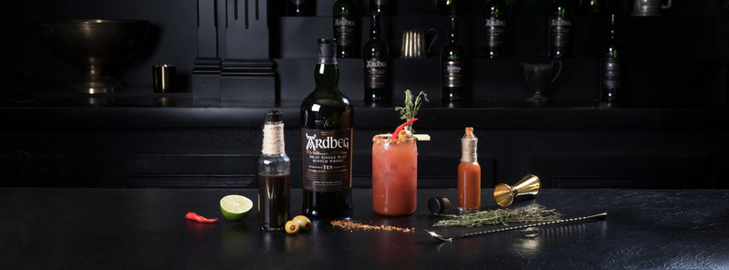 Ardbeg adds a smoky twist to Canada's favourite cocktail. The Ardbeg Caesar combines the tangy flavours of Clamato and the complex tasting notes of the Ardbeg Ten Years Old Islay Single Malt Whisky. (CNW Group/Ardbeg)