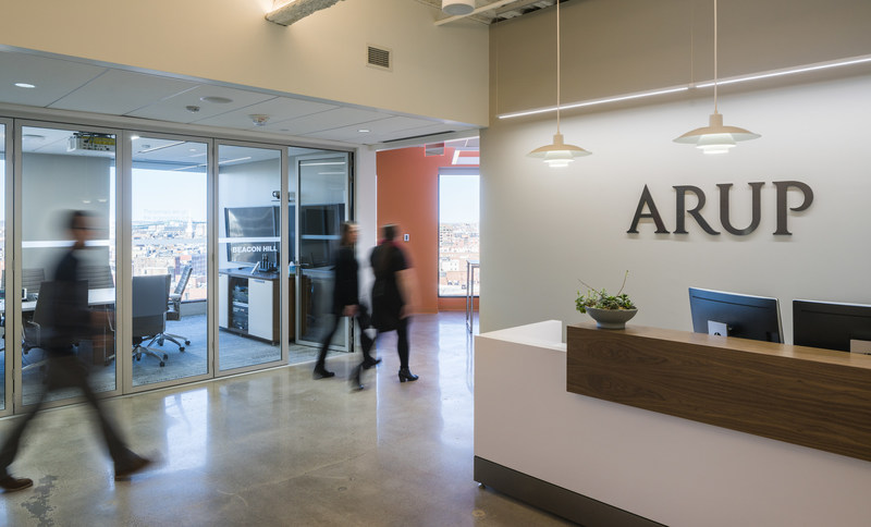 Arup's Boston office is the first to receive WELL Certification in New England at any level and the 14th globally to achieve WELL Certified Gold. Image ©Darrin Scott Hunter