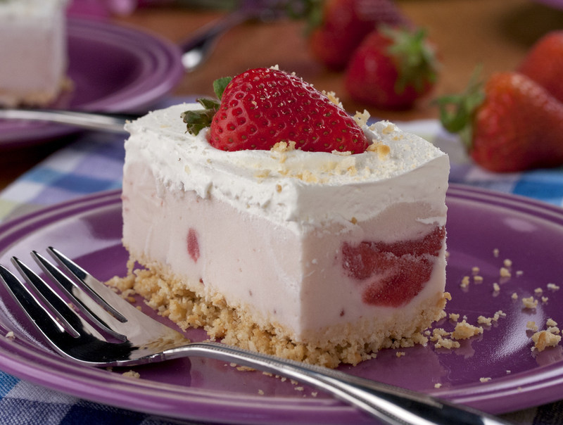 "A ""Favorite"" Summer Favorite! Check out our delicious Berry Cheesecake Ice Cream Squares recipe (and more) at EasyHomeMeals.com."