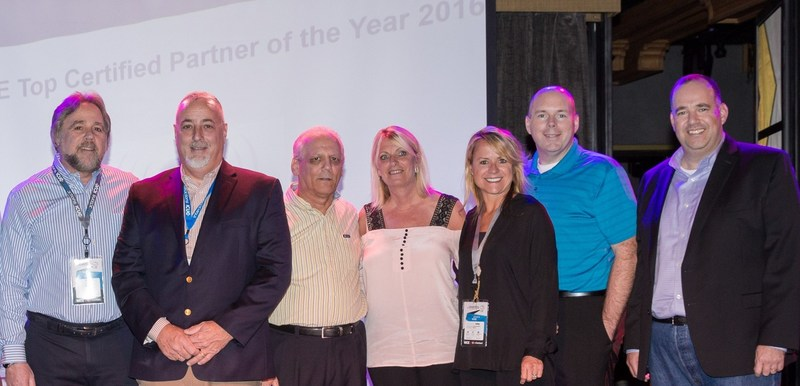 (left to right): Ira Cohen, US Partner Director NICE; Ken Kiernan President & Co-Founder, ICS; Keith Wagner, VP & Co-Founder, ICS; Sheila Potter National Account Manager, ICS; Lynne Barkeloo, Partner Manager NICE; Brady Adams, Solutions Engineer ICS; Yaron Hertz, President NICE Americas