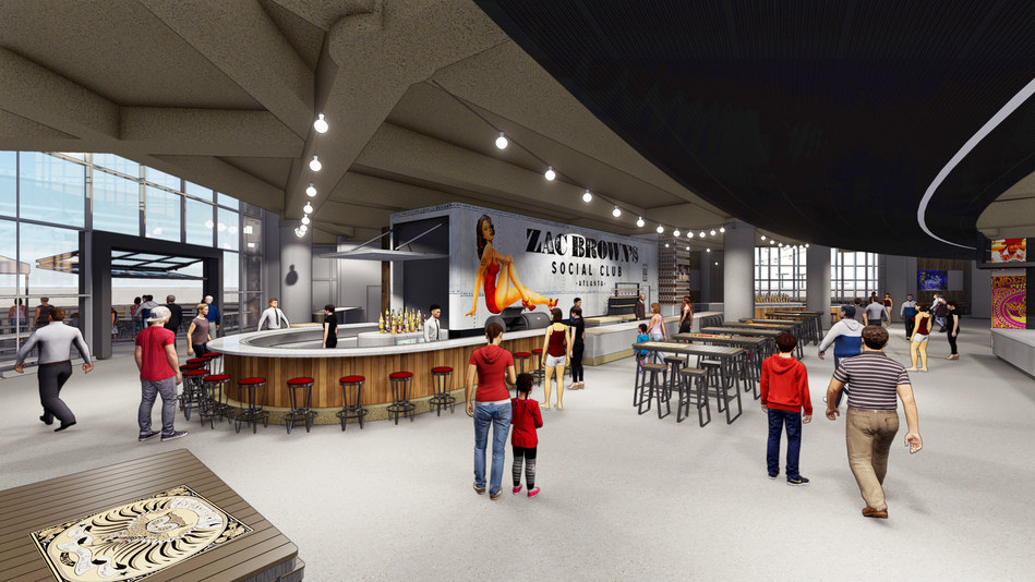 Early rendering of Zac Brown's Social Club inside Philips Arena