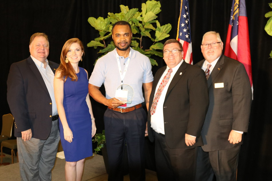 Hudie Langston (middle), Administrator at Christian City Assisted Living Center, was recently named Assisted Living Executive Director of the Year for 2017.