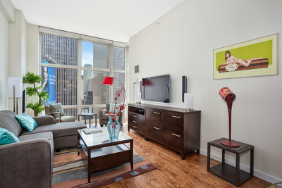 Living Room of Penthouse at Times Square