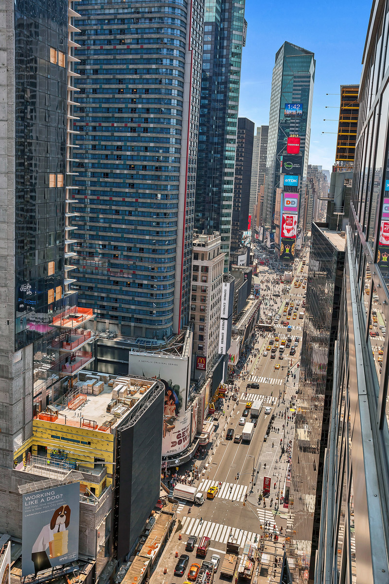 View on Times Square, directly from Penthouse Balcony