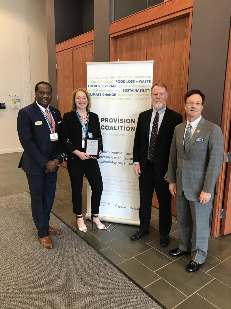(L-R) Lynden King - OTF Volunteer, Cher Mereweather - Executive Director, Provision Coalition, Robert Cash - Chair, Provision Coalition, Bob Delaney – MPP Mississauga - Streetsville (CNW Group/Provision Coalition)