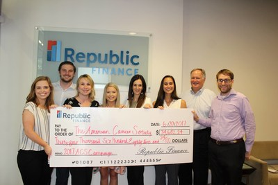 Republic Finance proudly presented its 2017 fundraising proceeds to the American Cancer Society on Tuesday afternoon. Thank you to everyone who contributed to and supported this year's campaign!