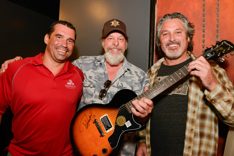 Ted Nugent Celebrating with Semper Fi