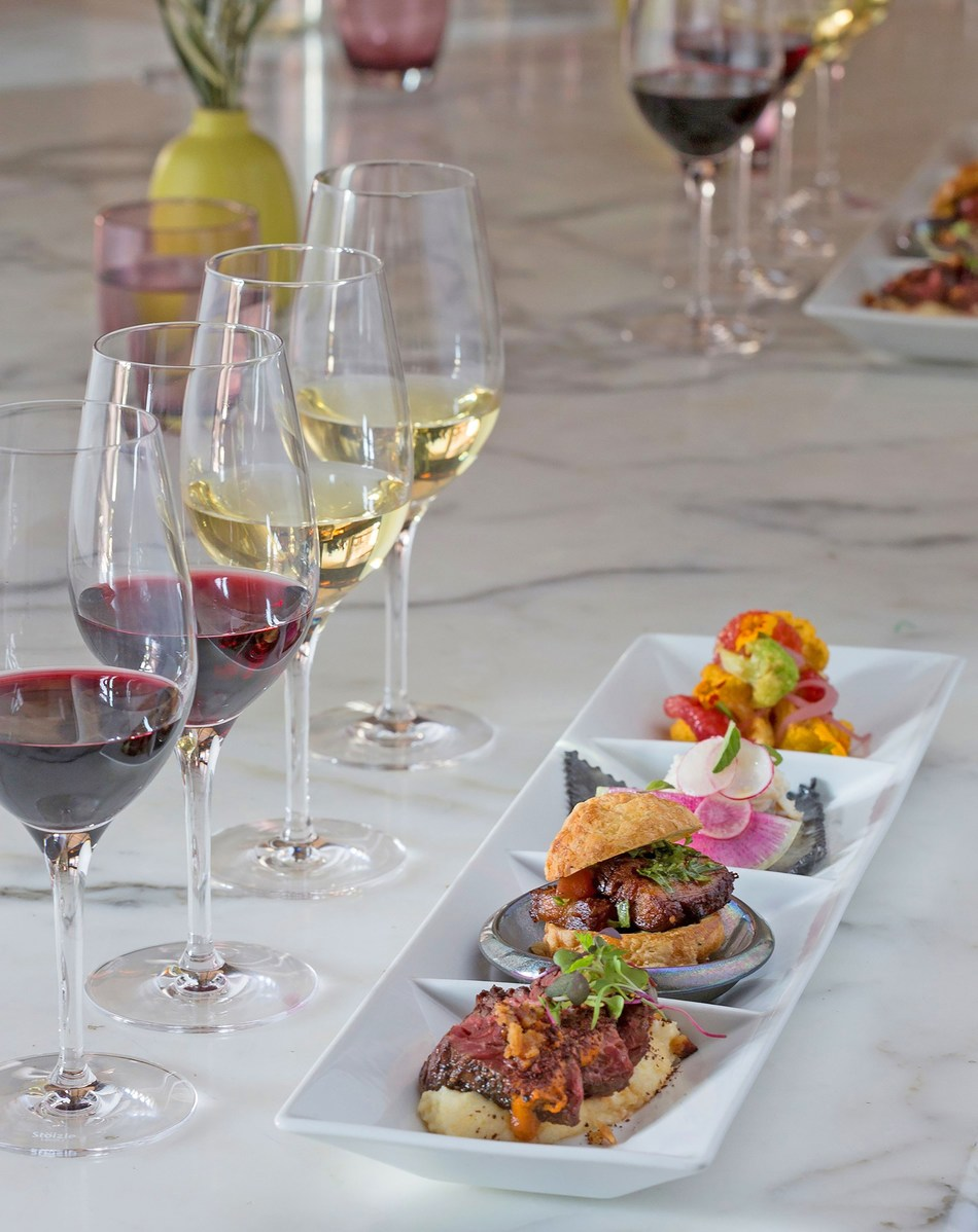 Farm-to-table wine and food experiences abound at California wineries. Ram's Gate Winery in Sonoma County offers a guided, seated tasting of four single-vineyard wines alongside their culinary pairings.