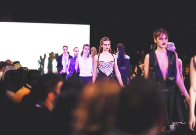 Runway scene from Toronto Women's Fashion Week. Photography by: Brian de Rivera Simon (CNW Group/Canada Fashion Group)