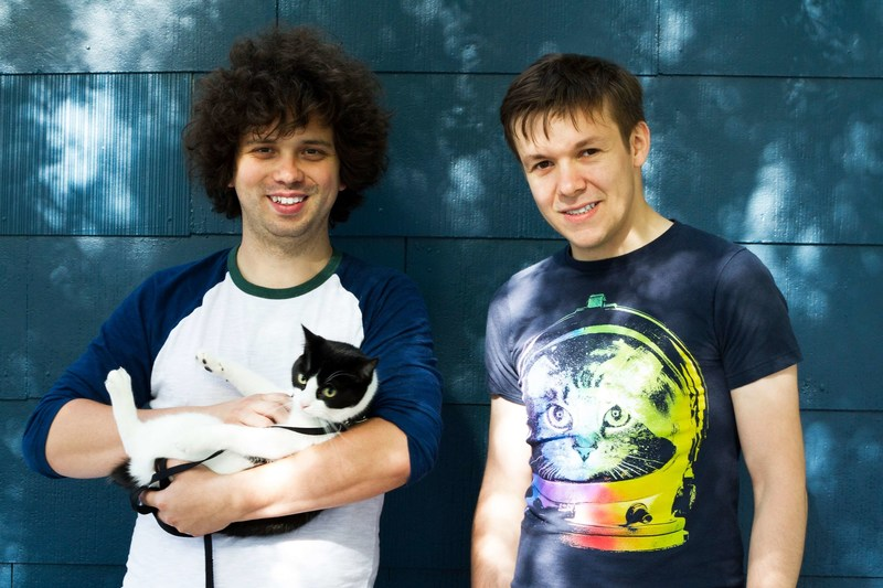 PetBot CTO and founder Misko Dzamba (left) and Petcube CEO and co-founder Yaroslav Azhnyuk (right)